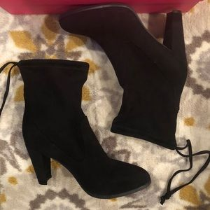 Catherine Malandrino Black Suede Ankle Boots